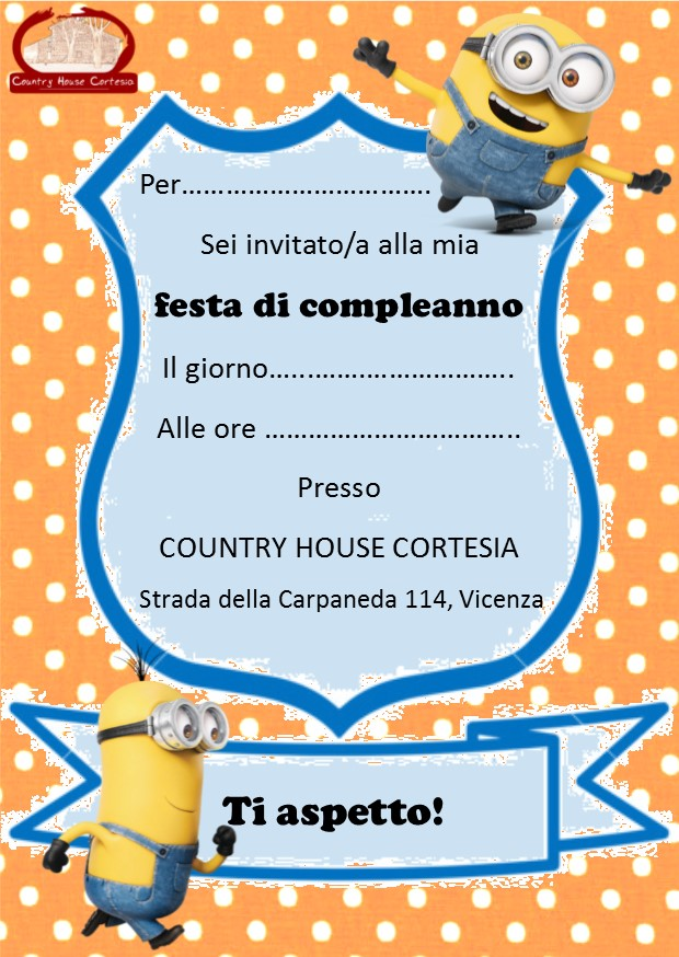 Preferenza Country House Cortesia - FESTE DI COMPLEANNO PER BAMBINI (estive) PK82